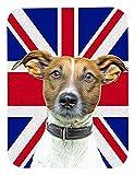 Caroline's Treasures Jack Russell Terrier with English Union Jack British Flag Mouse Pad/Trivet (KJ1162MP)