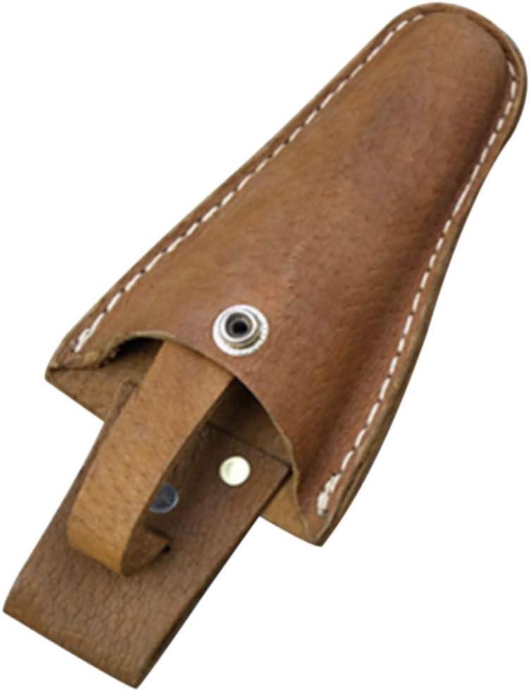 Funda para tijera, con hebilla para jardinería, bolsa de tijera para electricista, herramienta duradera de cuero