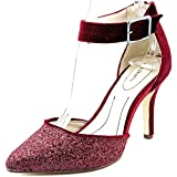 Style & Co. Womens Galaxy2 Pointed Toe Ankle Strap D-Orsay, Cranberry, Size 7.5