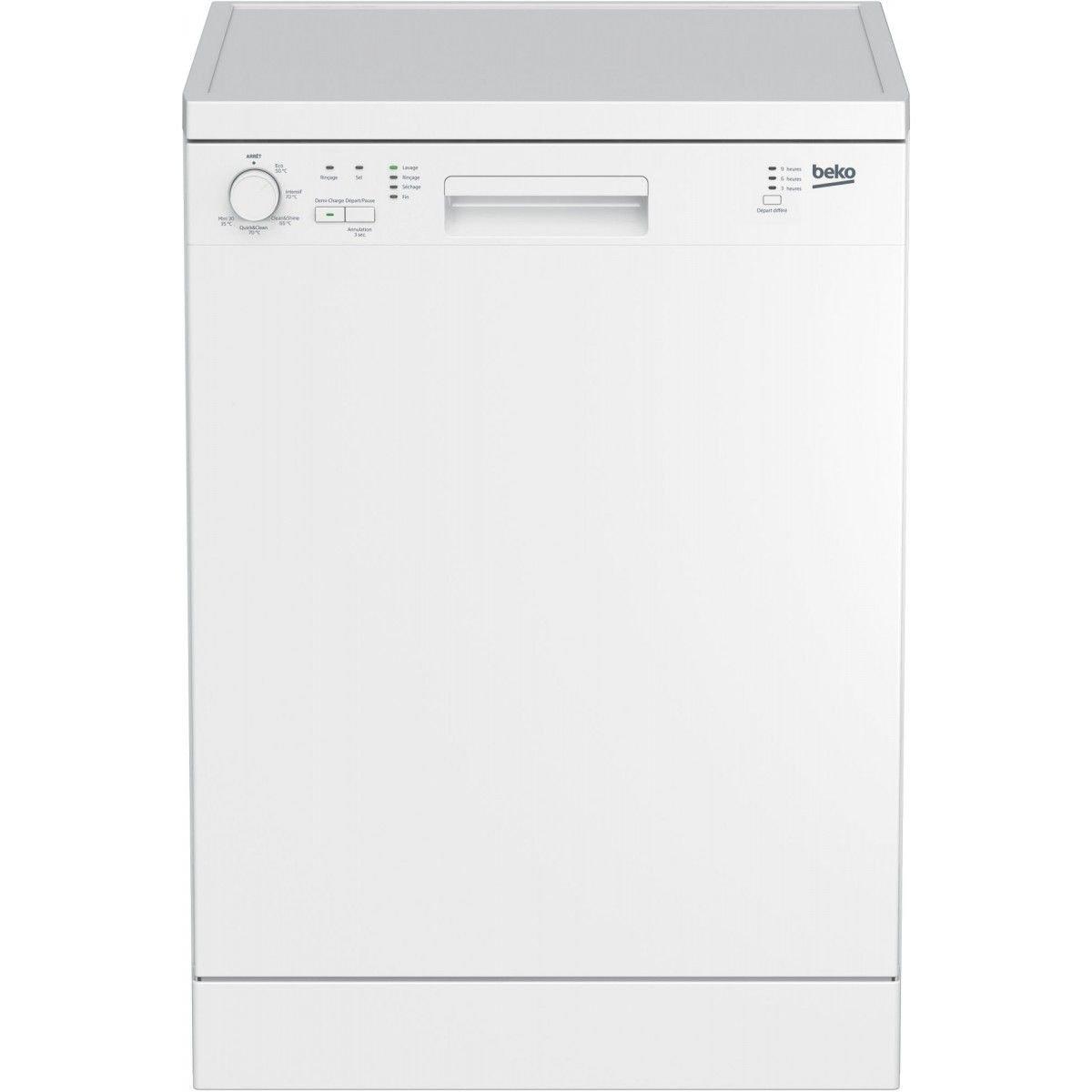 Beko DFN100 Autonome 12places A+ lave-vaisselle - Lave-vaisselles (Autonome, Blanc, Taille maximum (60 cm), Blanc, boutons, Rotatif, LED) product image