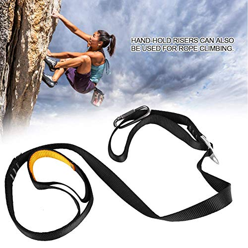 aXXcssqw9bOutdoor Rock Climbing Adjustable Safe Rising Foot Pedal Belt Sling Ascender