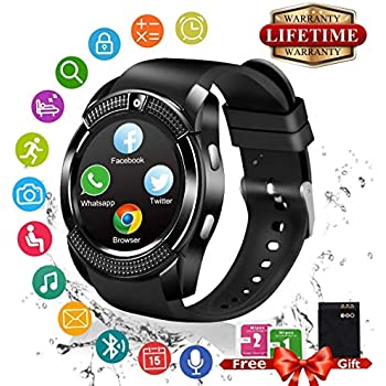 Amazon.com: Bluetooth Smart Watch with Camera SIM Card Slot ...