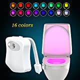 Led Toilet Seat WEBSUN Toilet Night Lights Motion Activated, Sensor LED Toilet Seat Light - 16 Colors 2 Modes