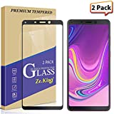 [2-Pack] Samsung Galaxy A9 (2018) Full Coverage Screen Protector Tempered Glass, Zeking 0.33mm 2.5D Edge 9H Hardness [Anti Scratch][Anti-Fingerprint] Bubble Free, Lifetime Replacement Warranty
