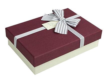 cheerlife Caja de Regalo Rectangular con lazo regalo caja ...