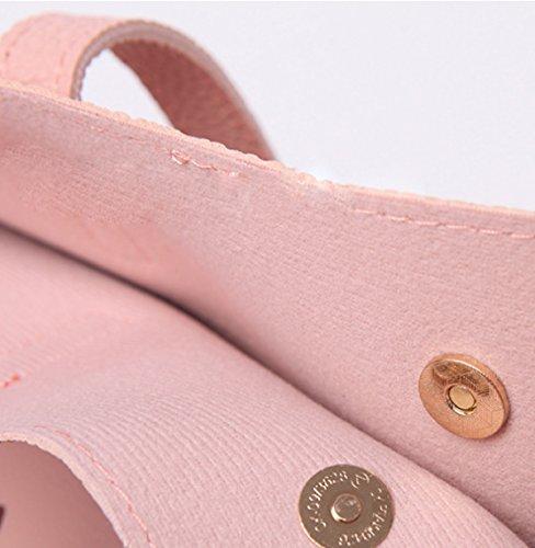 SCFGG - Bolso estilo cartera para mujer rosa grande caqui