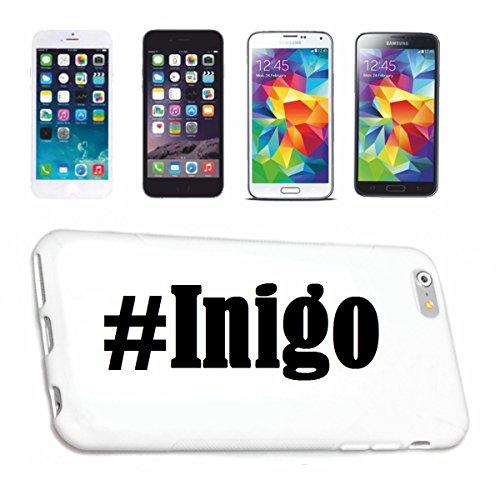 Handyhülle iPhone 5 / 5S Hashtag ... #Inigo ... im Social Network Design Hardcase Schutzhülle Handycover Smart Cover für Apple iPhone … in Weiß … Schlank und schön, das ist unser HardCase. Das Case wi
