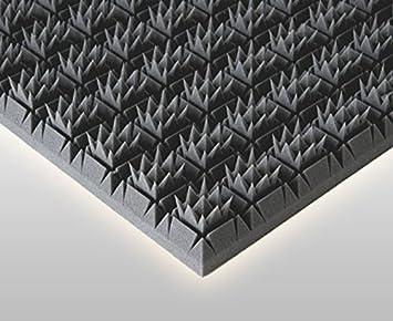 K/önigspyramide Anthrazit Schwarz 56x56x6cm