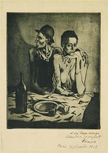 [High Quality Polyster Canvas ,the Best Price Art Decorative Canvas Prints Of Oil Painting 'The Frugal Repast By Pablo PIcasso', 16x23 Inch / 41x57 Cm Is Best For Study Gallery Art And Home Decor And] (Kangaroo Costume Rental)