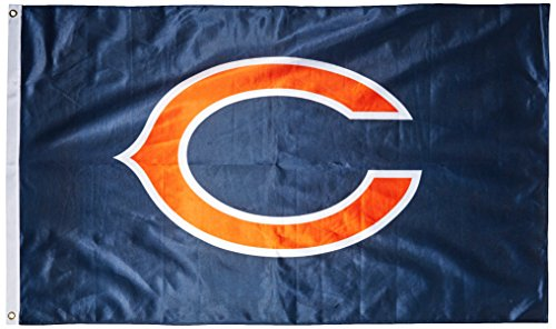 NFL Chicago Bears Banner Flag, 3' x 5', -