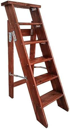 Silla De Escalera Plegable Madera Amplia Escalera Gruesa Unilateral Estantes De Escalera Plegables Multifuncionales Interior Y Exterior,Standard: Amazon.es: Hogar