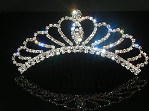 (Wedding Crown, Bridal Tiara Rhinestone Crystal Crown)