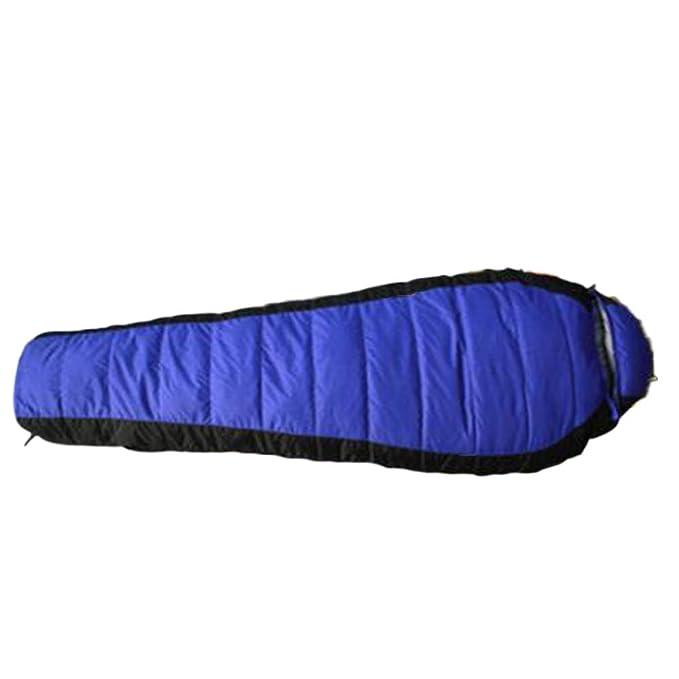 nihiug Saco De Dormir Momia Exterior Ligero Calor Impermeable Perfecto Para 10-cero 15 Grados Abajo Doble Costura Camping,Blue-215 * 80cm: Amazon.es: Ropa y ...