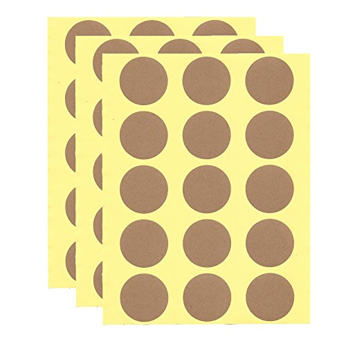 2 inch Kraft Printer-Friendly Round Labels - Pack of - Round And 15 Brown