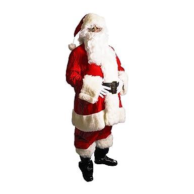 ce7ed33427c21 Exquisite Dark Velvet Santa Suit Adult Costume - XX-Large Red/White