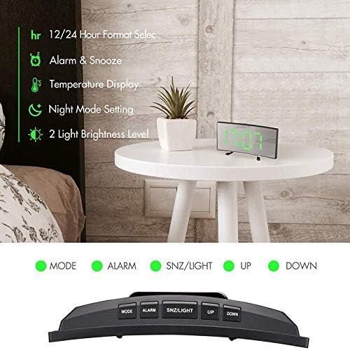 Digital-Wecker, 7-Zoll-Curved Dimmbare LED-Schirm-Digital-Uhr für Kinder UV3 1X