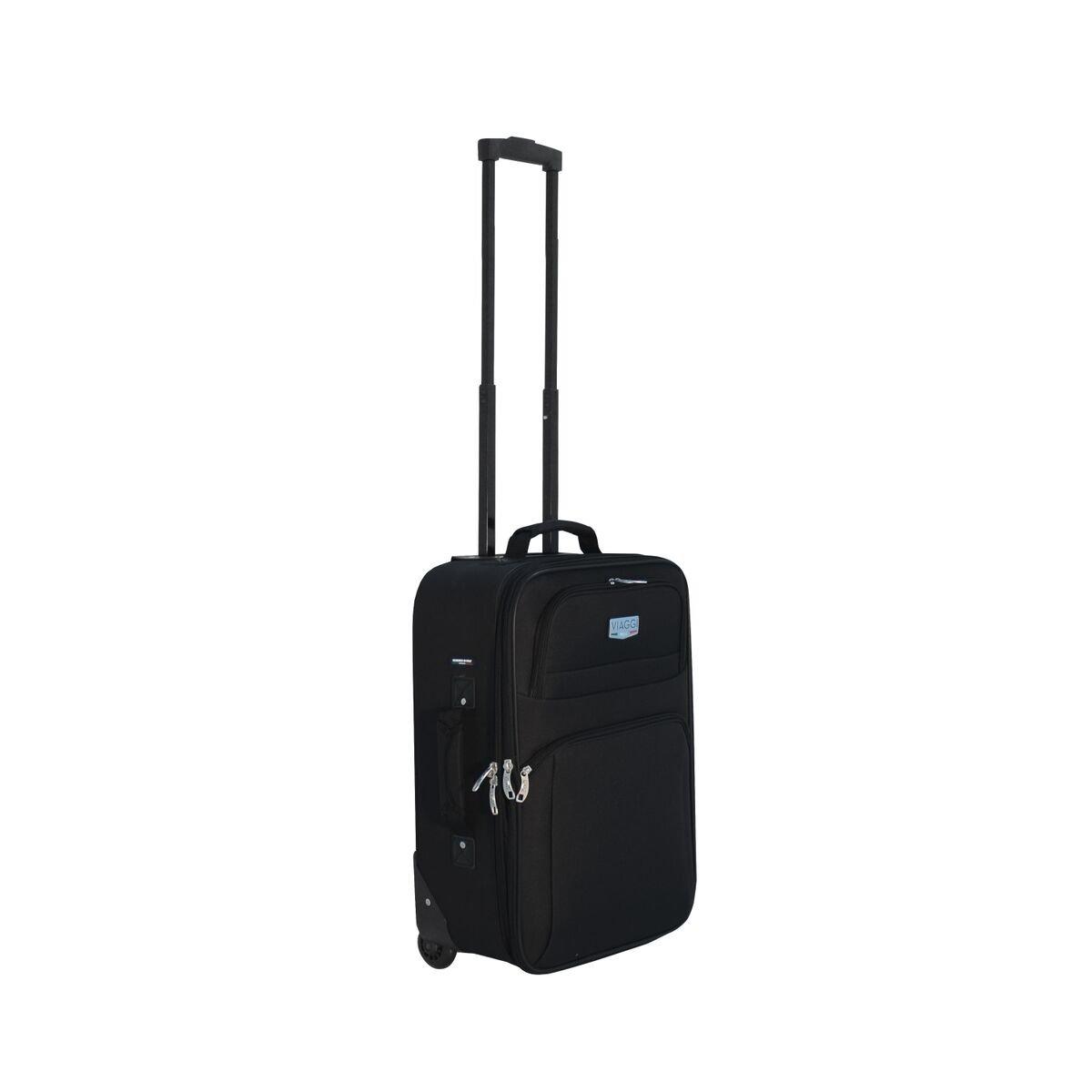 Viaggi 機内持ち込み手荷物, ブラック, One Size B07922TCZJ ブラック