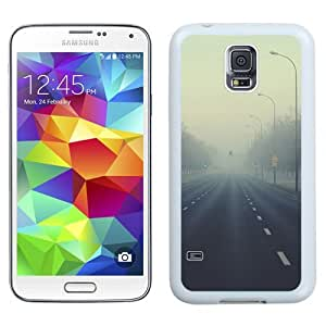 New Beautiful Custom Designed Cover Case For Samsung Galaxy S5 I9600 G900a G900v G900p G900t G900w With The Fog Road (2) Phone Case