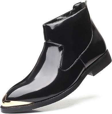 Soft PU Leather Fashion Mens Chelsea