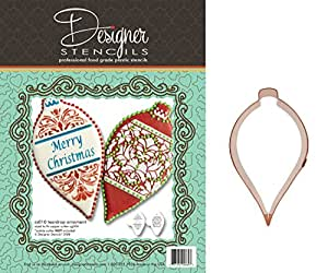 Teardrop Christmas Ornament Cookie Set and Heirloom Copper Cookie Cutter by Designer Stencils