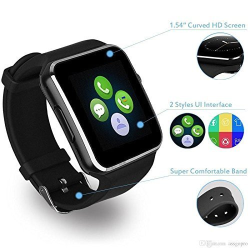 WellTech Bluetooth Smart Watch with Camera, SIM Card Support, Pedometer, Sedentary Remind & Sleep Monitoring for All 2G…