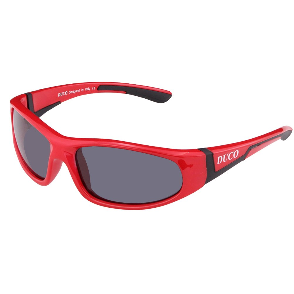 Duco Kids Sports Style Polarized Sunglasses Rubber Flexible Frame For Boys And Girls K002