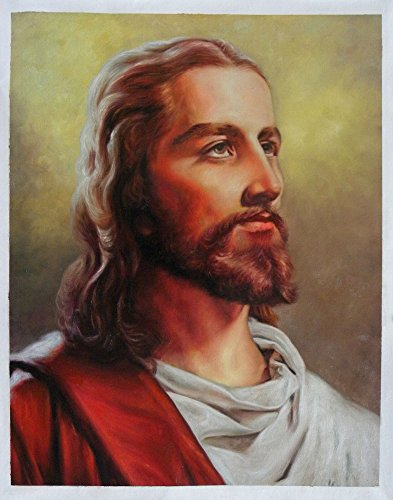 Jesus Christ Portrait hand-painted oil painting reproduction,Religion Art canvas,Home Wall Decoration Art (25.1 x 20 in.) by Various Artists