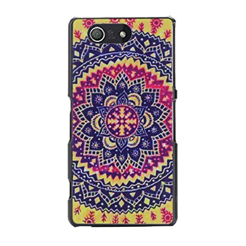 pent Pattern Tribal Case For Sony Xperia Z3 Compact (Colorful) ()