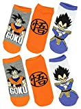 Dragon Ball Z 3 Pack No Show Socks Unisex Low Cut