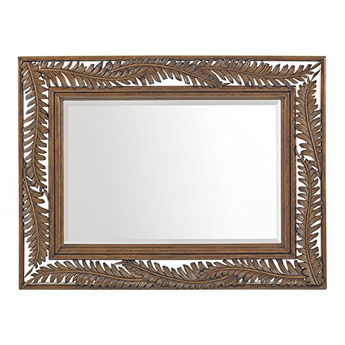 Tommy Bahama Bali Hai Seabrook Landscape Mirror in Warm Brown (Tommy Bahama Rattan Furniture)