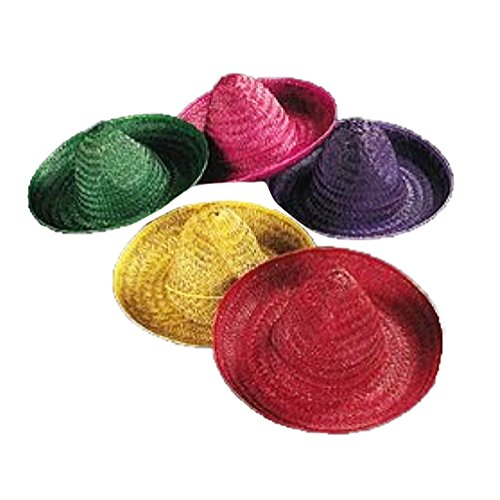 Assorted Color Child Sombrero dozen