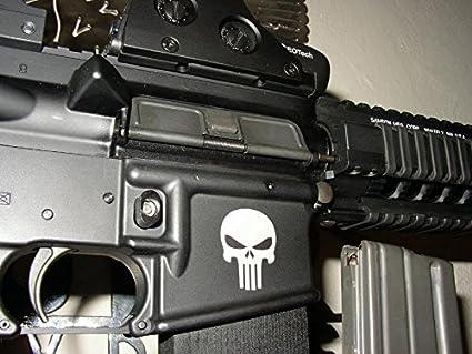 AR15 Lower Punisher Skull Decal PREMIUM 1 5