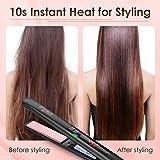 Hair Straightener, Bigrace Pro Flat Iron For Hair 2 in 1 Ceramic Tourmaline Plate Straightens & Curls