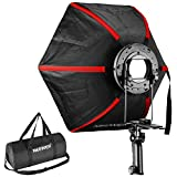 Neewer 24 inches/60 centimeters Professional Hexagonal Softbox Collapsible Diffuser with Handle Grip for Speedlight Studio Flash for Portrait or Product Photography (Black/Red)