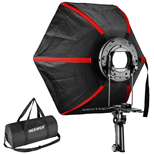 Neewer 24 inches/60 centimeters Professional Hexagonal Softbox Collapsible Diffuser with Handle Grip for Speedlight Studio Flash for Portrait or Product Photography (Handle Grip Lighting)
