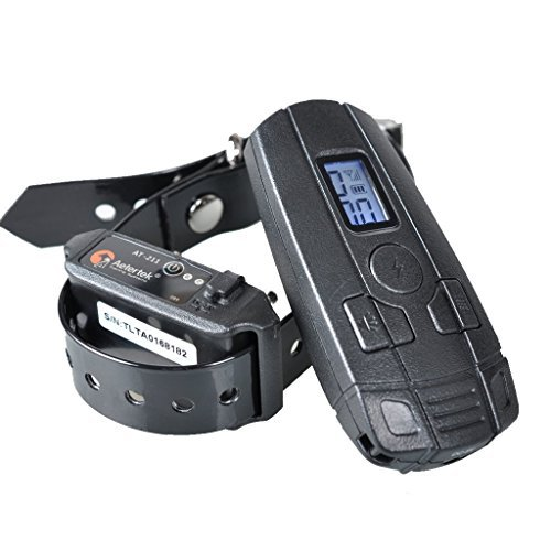 AETERTEK Pet Dog E Electric Shock Collar Remote Training Collars Bark Collar No Stop Barking Device for Small Dogs AT-211 Updated (For one dog training system) by Aetertek