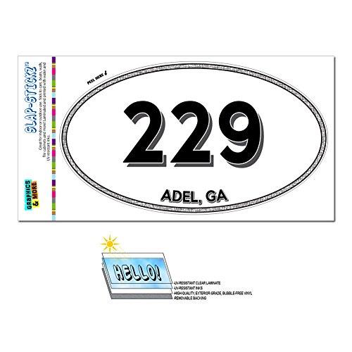 Graphics and More Area Code Euro Oval Window Laminated Sticker 229 Georgia GA Abbeville - Leary - Adel (Adel Ga)
