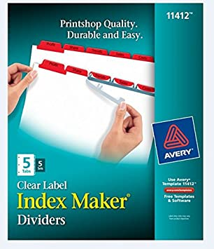 Amazon Index MakerR Print Apply Clear Label Dividers