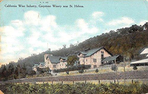 St Helena California Greystone Winery Street View Antique Postcard K86014