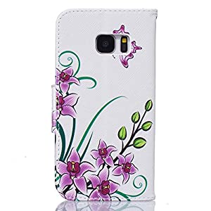 Galaxy S7 Case, Firefish [Kickstand] [Card Slots] PU Leather Wallet Case Magnetic Closure Scratch Resistant Cover Skin for Samsung Galaxy S7 -Pink Butterfly