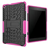 Amazon Fire HD 8 (2016 Model) Case Betty [Drop Protection] [Full-body Shockproof] with Kickstand 2in1 Slim Cute Bumper PC+Hard Silicone Rubber, High Impact Resistant Armor Defender Cover Case