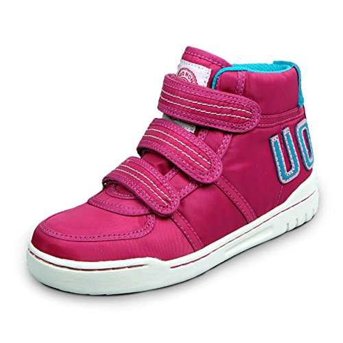 U-MAC Boys and Girls Sneakers Velcro High Top Warm Boot Casual Shoes (Little Kid/Big Kid)