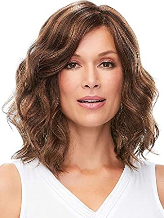 Fencca Short Curly Wigs For Women Brown Shoulder Length Big Wave Hair Wigs Natural Looking Heat Resistant Synthetic Fashion Wig With Free Wig Cap