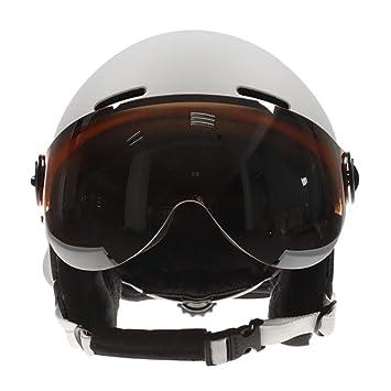 Casco de esquí Casco de Seguridad con Gafas integradas de ...