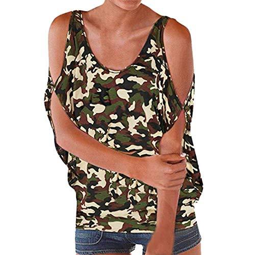 Cn Taille Femme Imprimé shirt Luk Manches Vert shirts T Zhrui T À 10 Camisole Courtes couleur AP7nqw