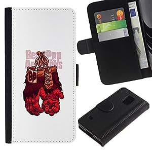 All Phone Most Case / Oferta Especial Cáscara Funda de cuero Monedero Cubierta de proteccion Caso / Wallet Case for Samsung Galaxy S5 V SM-G900 // Gorilla Boxing Gloves