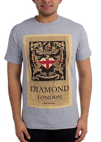Diamond Supply Co First Edition Tee in Heather Grey Medium