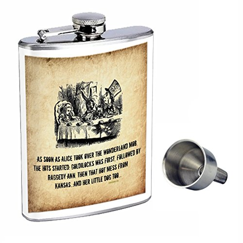 【在庫あり】 不思議の国のアリスPerfection inスタイル8オンスステンレススチールWhiskey Flask with Funnel Free Funnel d-009 d-009 with B017FAU8NG, アッパーゴルフ:1ef333bc --- vezam.lt