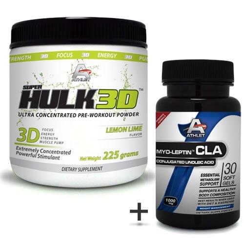 Athlet savoir Hulk3d pré-entraînement Poudre 225 gr Lime Jitter-f ocus sans CLA