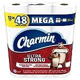 Charmin Ultra Strong Toilet Paper, 12 Mega Rolls Equal To 48 Regular Rolls, 12 Count
